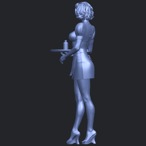 07_TDA0475_Beautiful_Girl_09_WaitressB05.png Download free STL file Beautiful Girl 09 Waitress • 3D printable object, GeorgesNikkei