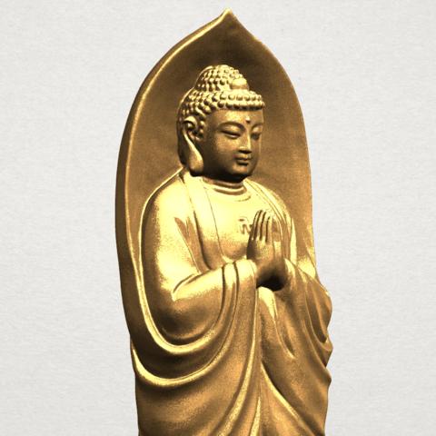 Gautama Buddha Standing (iv) A08.png Download free STL file Gautama Buddha Standing 04 • 3D printable design, GeorgesNikkei