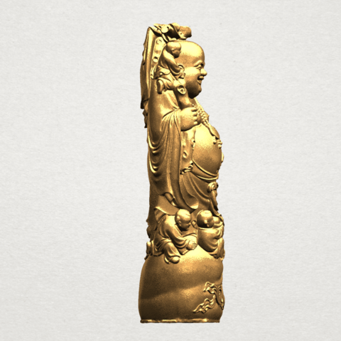 TDA0070 Metteyya Buddha 02 - 88mm - A06.png Download free STL file Metteyya Buddha 02 • 3D printer object, GeorgesNikkei