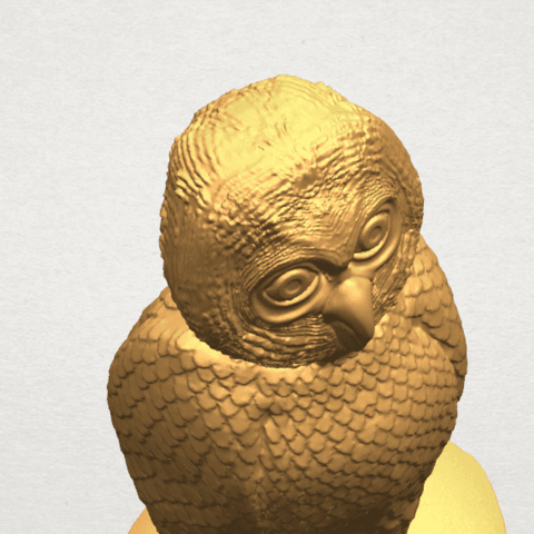 TDA0594 Owl 03 A10.png Download free STL file Owl 03 • 3D printing object, GeorgesNikkei