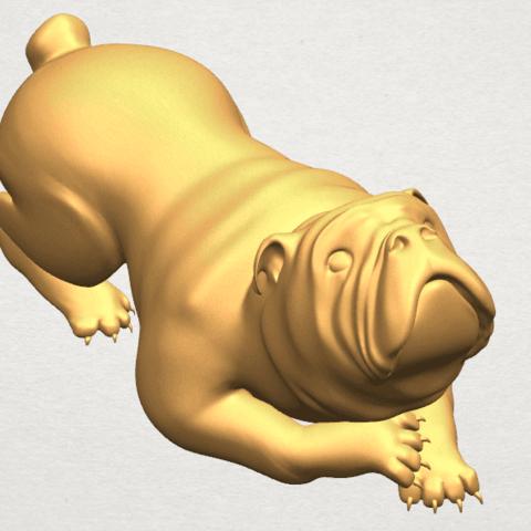 TDA0574 Bull Dog 07 A09.png Télécharger fichier STL gratuit Chien de taureau 07 • Objet imprimable en 3D, GeorgesNikkei