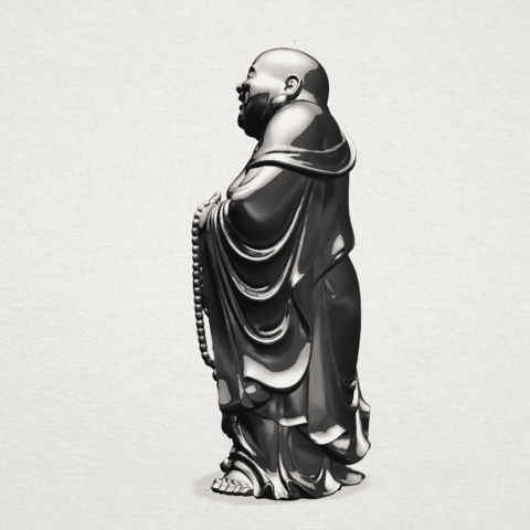 TDA0070 Metteyya Buddha 01 - 88mm - B03.png Download free STL file Metteyya Buddha 01 • 3D print object, GeorgesNikkei
