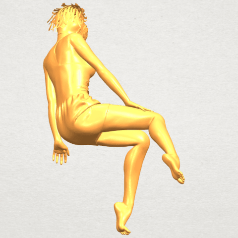 A07.png Download free STL file Naked Girl E05 • 3D print object, GeorgesNikkei