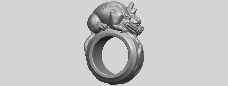 07_TDA0504_Pi_Xiu_RingA07.png Télécharger fichier STL gratuit Bague Pi Xiu Ring • Modèle à imprimer en 3D, GeorgesNikkei