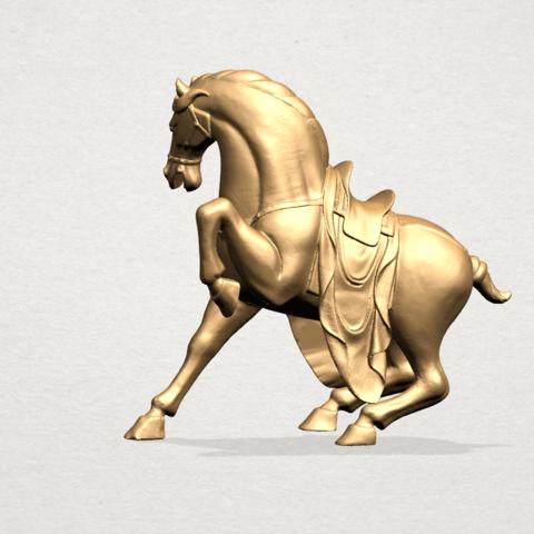 Horse III - A05.png Télécharger fichier STL gratuit Cheval 03 • Design imprimable en 3D, GeorgesNikkei