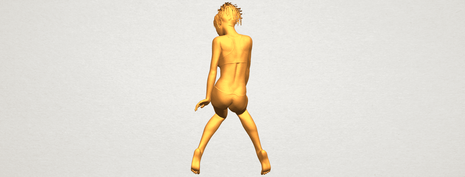 A06.png Download free STL file Naked Girl E03 • 3D printable template, GeorgesNikkei