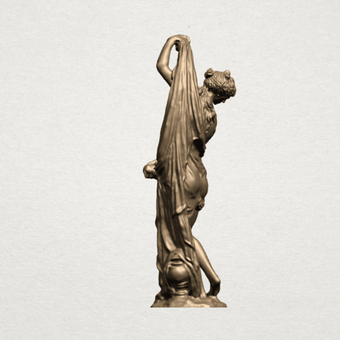 Naked Girl (vii) A04.png Download free STL file Naked Girl 07 • 3D printable design, GeorgesNikkei