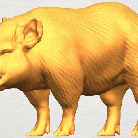 TDA0320 Pig (ii) A07.png Download free STL file Pig 02 • 3D printable object, GeorgesNikkei