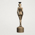 Naked girl-vase-B05.png Download free STL file Naked Girl with Vase on Top (i) • 3D print template, GeorgesNikkei