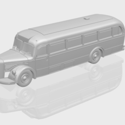 Download free 3D printer designs Mercedes Benz O6600 Bus 1950, GeorgesNikkei