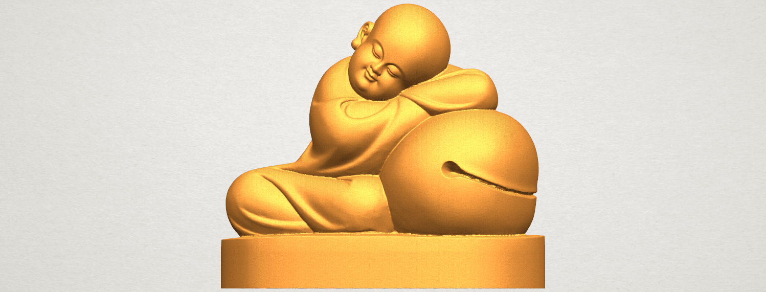 TDA0346 Little Monk A01.png Download free STL file Little Monk 02 • Design to 3D print, GeorgesNikkei