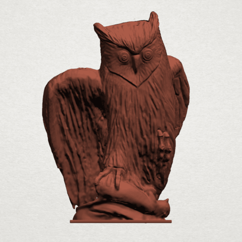 Owl (ii) B01.png Download free STL file Owl 02 • 3D printer object, GeorgesNikkei