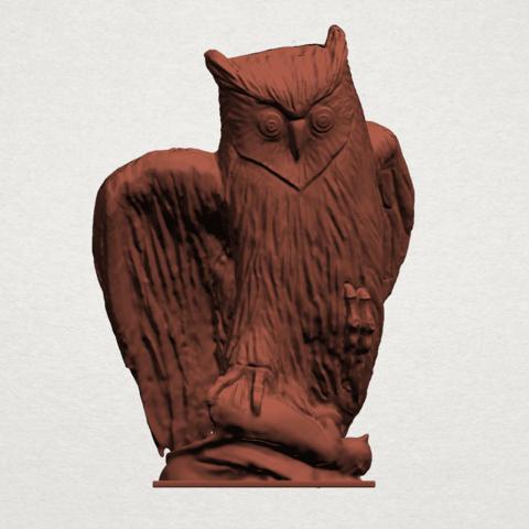 Owl (ii) B01.png Télécharger fichier STL gratuit Hibou 02 • Plan pour imprimante 3D, GeorgesNikkei