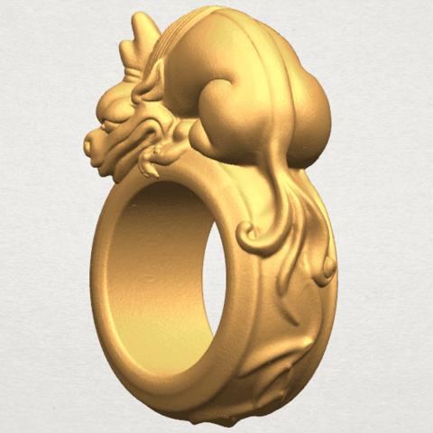 TDA0504 Pi Xiu Ring A02.png Télécharger fichier STL gratuit Bague Pi Xiu Ring • Modèle à imprimer en 3D, GeorgesNikkei