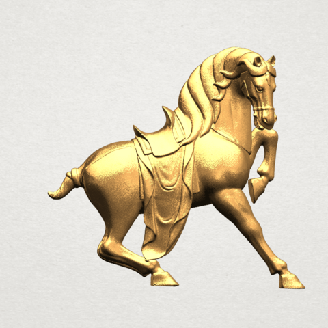 Horse III - B01.png Télécharger fichier STL gratuit Cheval 03 • Design imprimable en 3D, GeorgesNikkei