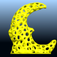 Download free 3D printing designs Voronoi Moon, GeorgesNikkei