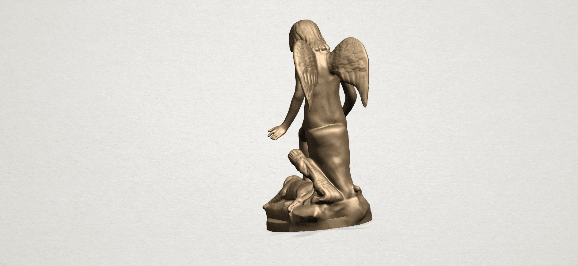 Angel and Dog A08.png Download free STL file Angel and Dog • 3D print model, GeorgesNikkei