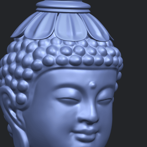 11_Buddha_Head_Sculpture_80mmA10.png Download free STL file Buddha - Head Sculpture • 3D printing model, GeorgesNikkei