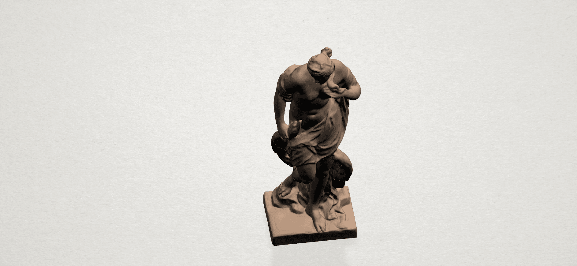 Naked Girl with Goose A08.png Download free STL file Naked Girl with Goose • 3D print template, GeorgesNikkei