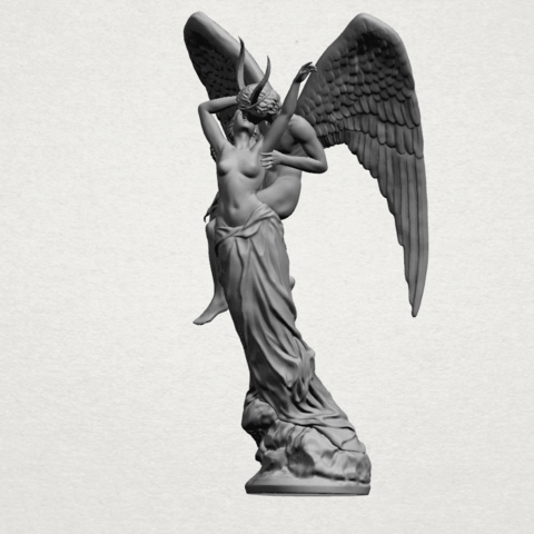 Angel and devil - A03.png Download free 3DS file Angel and devil • 3D print template, GeorgesNikkei