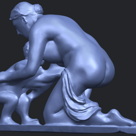 10_Mother-Child_(iv)_90mm_(repaired)B02.png Download free STL file Mother and Child 04 • 3D print template, GeorgesNikkei