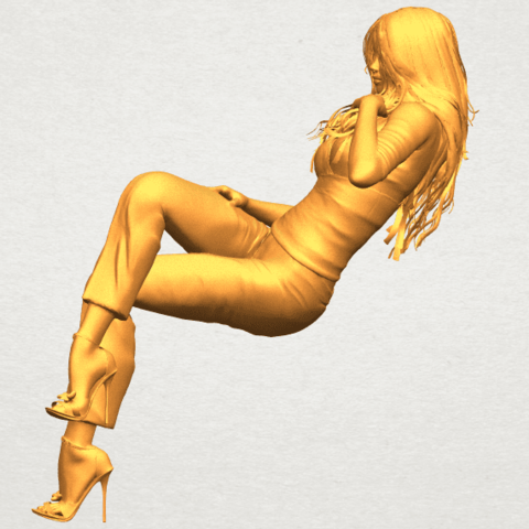 A03.png Download free STL file Naked Girl I05 • Object to 3D print, GeorgesNikkei