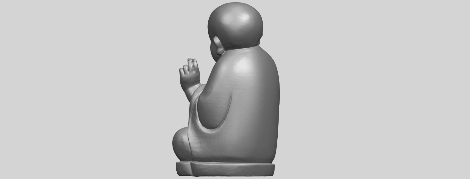TDA0732_Little_Monk_05A05.png Download free STL file Little Monk 05 • 3D printing template, GeorgesNikkei