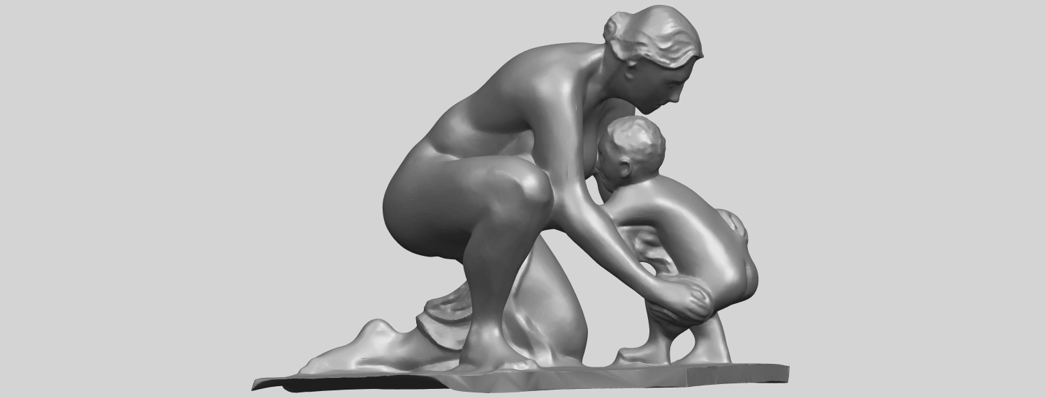 10_Mother-Child_(iv)_90mm_(repaired)A07.png Download free STL file Mother and Child 04 • 3D print template, GeorgesNikkei