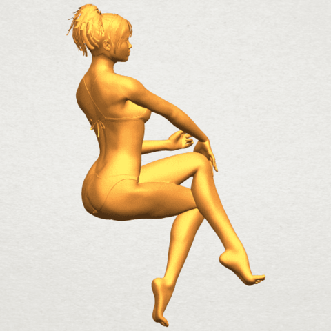 A01.png Download free STL file Naked Girl H02 • 3D print object, GeorgesNikkei