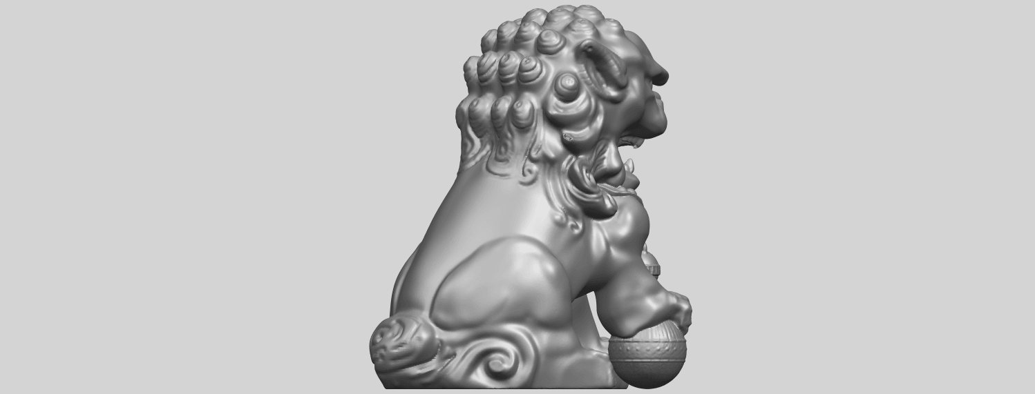 04_TDA0500_Chinese_LionA08.png Download free STL file Chinese Lion • 3D printing object, GeorgesNikkei