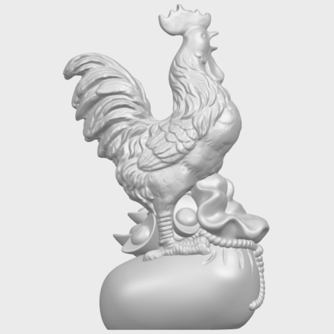 08_TDA0321_CockA07.png Télécharger fichier STL gratuit Coq 01 • Design pour impression 3D, GeorgesNikkei