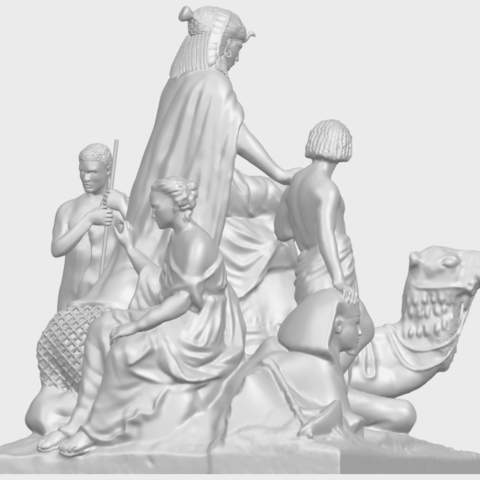 16_TDA0255_Villagers_and_CamelA07.png Download free STL file Villagers and Camel • 3D print template, GeorgesNikkei