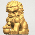 TDA0500 Chinese Lion A02.png Download free STL file Chinese Lion • 3D printing object, GeorgesNikkei