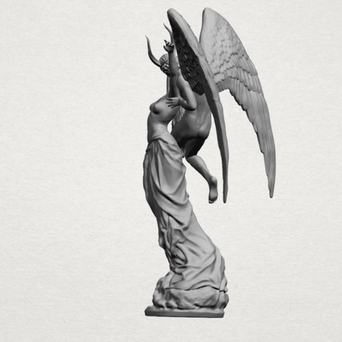 Angel and devil - A06.png Download free 3DS file Angel and devil • 3D print template, GeorgesNikkei