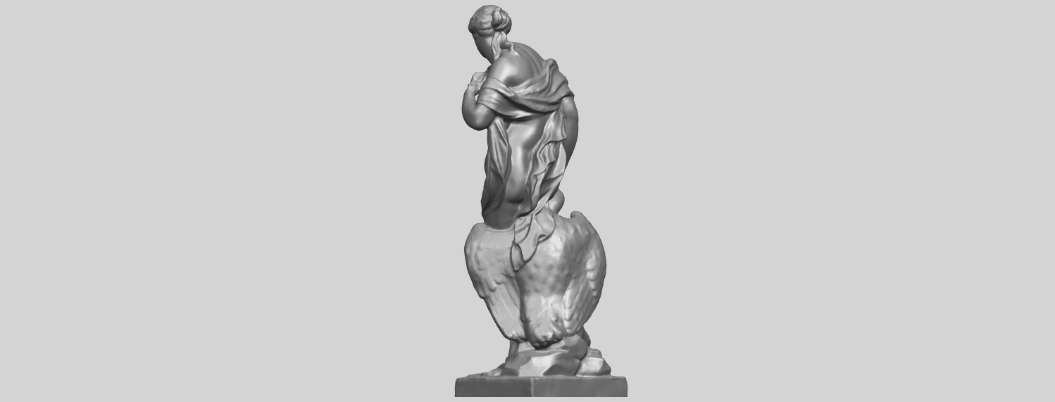 25_TDA0173_Naked_Girl_with_Goose_88mmA05.png Download free STL file Naked Girl with Goose • 3D print template, GeorgesNikkei