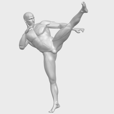 06_TDA0547_Man_KickingA02.png Télécharger fichier STL gratuit Man Kicking • Objet pour impression 3D, GeorgesNikkei
