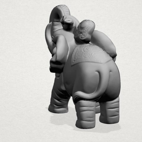 Elephant 02 -A03.png Télécharger fichier STL gratuit Eléphant 02 • Plan imprimable en 3D, GeorgesNikkei