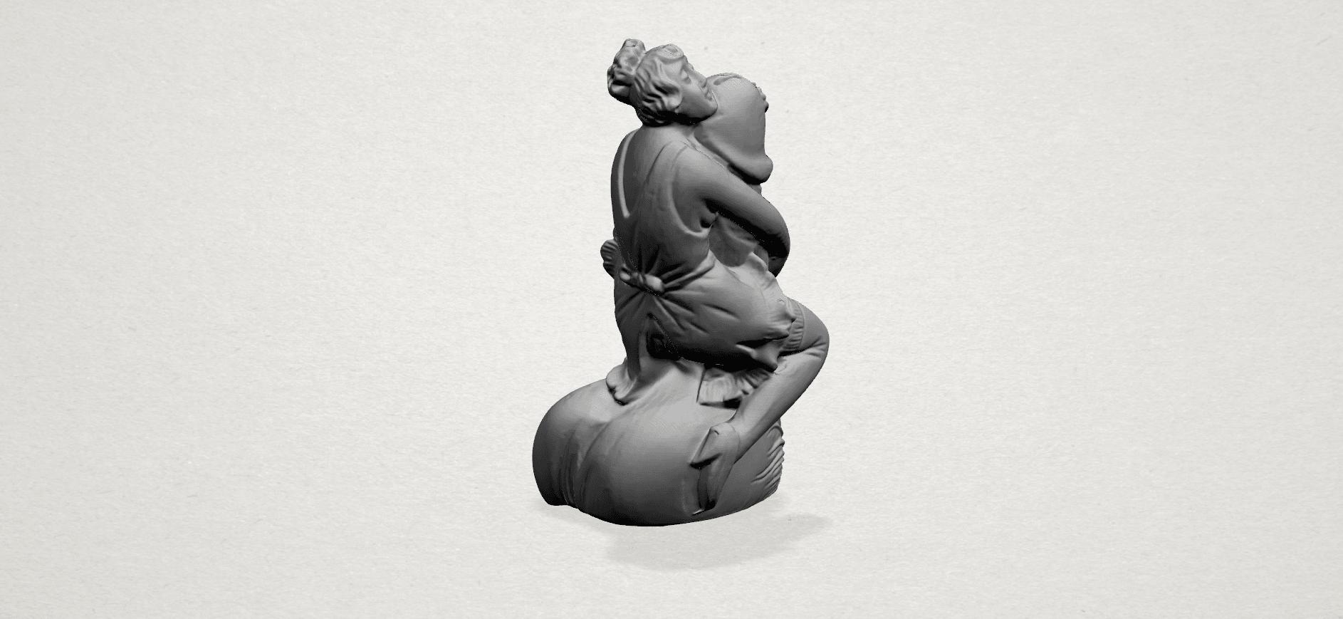 Alice hugging Dick - A04.png Download free STL file Alice hugging Dick • 3D printer design, GeorgesNikkei