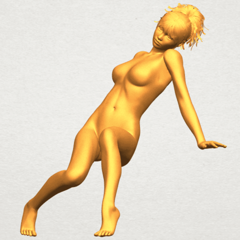 A02.png Download free STL file Naked Girl G01 • 3D printable template, GeorgesNikkei