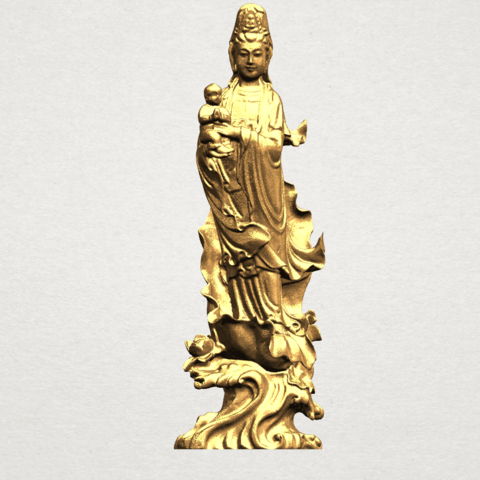 Download free STL files Avalokitesvara Bodhisattva - award kid 01, GeorgesNikkei