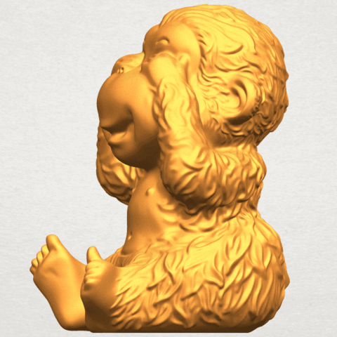 A03.png Download free STL file Monkey A03 • 3D printable model, GeorgesNikkei