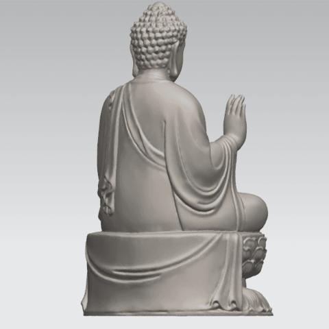 TDA0459 Gautama Buddha (iii) A05.png Download free STL file Gautama Buddha 03 • 3D printer template, GeorgesNikkei