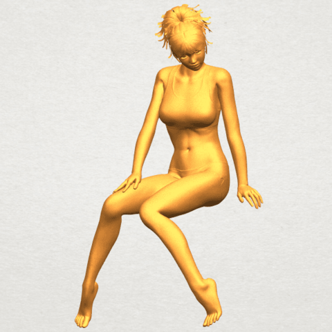 A02.png Download free STL file Naked Girl E03 • 3D printable template, GeorgesNikkei