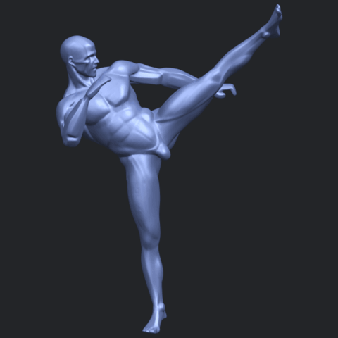 06_TDA0547_Man_KickingB01.png Télécharger fichier STL gratuit Man Kicking • Objet pour impression 3D, GeorgesNikkei