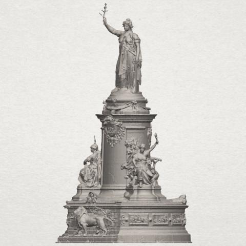 TDA0242 Place de la Republique A02.png Download free STL file Place de la Republique • 3D printer model, GeorgesNikkei