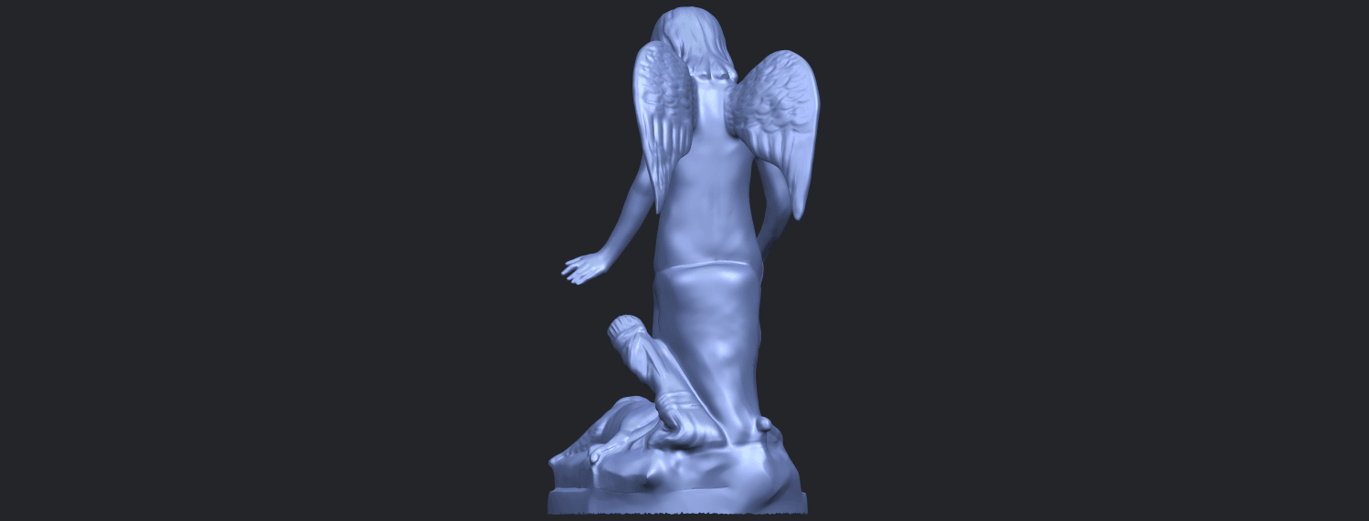 05_Angel_and_Dog_80mmB06.png Download free STL file Angel and Dog • 3D print model, GeorgesNikkei