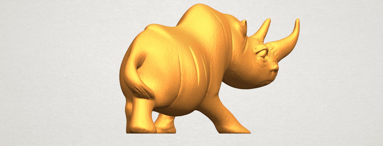 TDA0310 Rhinoceros (ii) A03.png Download free STL file Rhinoceros 02 • 3D printing model, GeorgesNikkei