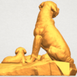A04.png Download free STL file Dog and Puppy 02 • 3D print design, GeorgesNikkei