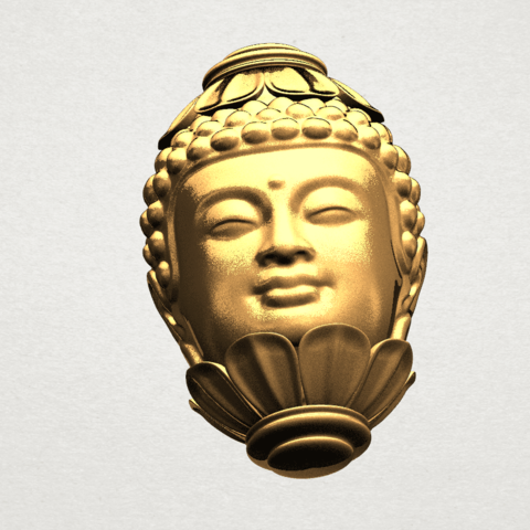 Buddha - Head Sculpture 80mm -A07.png Download free STL file Buddha - Head Sculpture • 3D printing model, GeorgesNikkei
