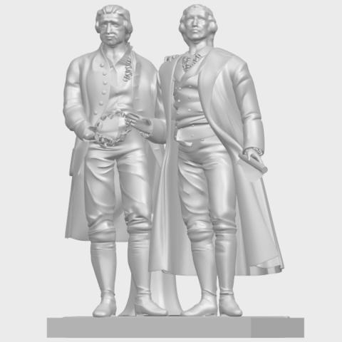 15_Goethe_schiller_80mmA02.png Télécharger fichier STL gratuit Goethe Schiller • Modèle imprimable en 3D, GeorgesNikkei